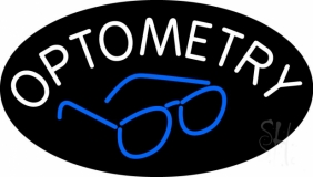 Optometry With Glass Logo LED Neon Sign