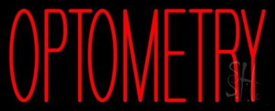 Red Optometry LED Neon Sign