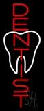 Vertical Dentist Logo LED Neon Sign
