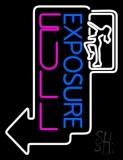 Exposure Full Girl Logo LED Neon Sign