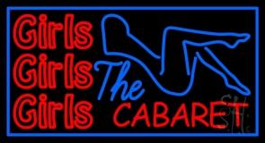 Girls Girls Girls The Cabaret Girl Logo LED Neon Sign