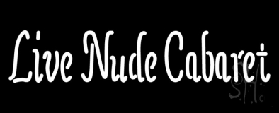 Live Nude Cabaret LED Neon Sign