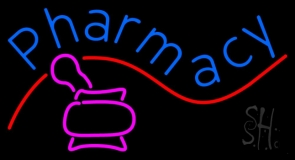 Pharmacy With Logo LED Neon Sign