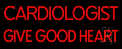 Cardiologist Give Good Heart LED Neon Sign