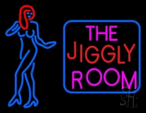 The Jiggly Room With Girl Logo LED Neon Sign