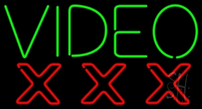 Video Triple X LED Neon Sign