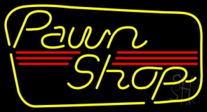Yellow Pawn Shop LED Neon Sign