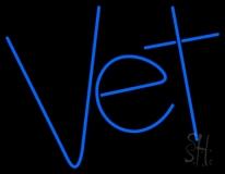 Blue Vet LED Neon Sign