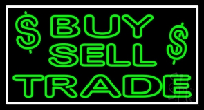 Buy Sell Trade With Dollar Logo LED Neon Sign