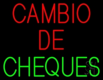 Cambio De Cheques LED Neon Sign