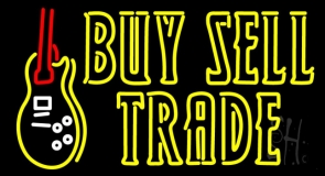Double Stroke Buy Sell Trade LED Neon Sign