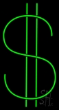 Double Line Dollar Logo LED Neon Sign