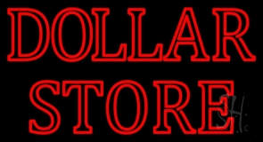 Double Stroke Dollar Store LED Neon Sign