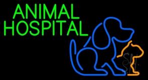 Green Animal Hospital Logo LED Neon Sign