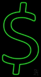 Green Dollar Logo LED Neon Sign