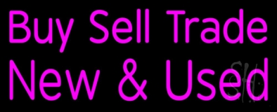 Pink Buy Sell Trade New And Used LED Neon Sign