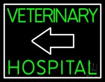 Veterinary Hospital With Arrow LED Neon Sign