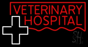 Veterinary Hospital With Plus Logo LED Neon Sign