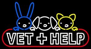 Vet Help LED Neon Sign