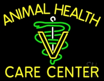 Yellow Animal Health Care Center LED Neon Sign