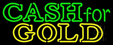 Cash For Yellow Gold LED Neon Sign