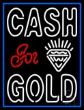 Double Stroke Cash For Gold Diamond Logo LED Neon Sign