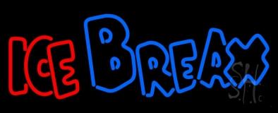 Double Stroke Ice Break LED Neon Sign