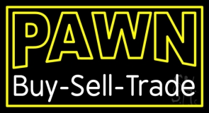 Double Stroke Pawn Buy Sell Trade LED Neon Sign