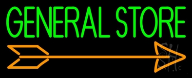 General Store With Arrow LED Neon Sign