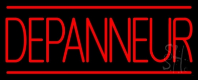 Red Depanneur LED Neon Sign