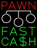 Red Pawn Fast Cash Logo LED Neon Sign