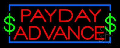 Red Payday Advance LED Neon Sign