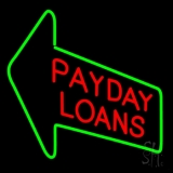 Red Payday Loans With Arrow LED Neon Sign