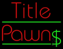 Red Title Pawn LED Neon Sign