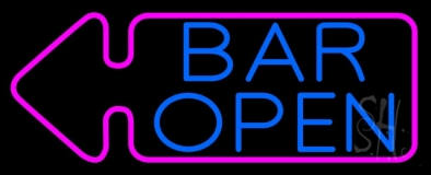 Bar Open With Arrow LED Neon Sign
