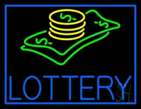 Blue Lottery Logo LED Neon Sign