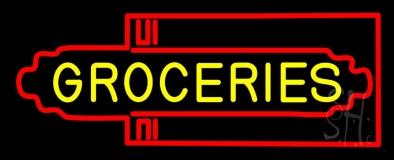 Groceries Art Deco LED Neon Sign