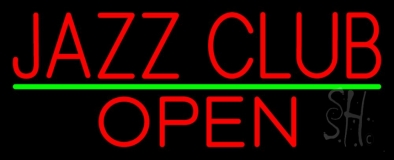Red Jazz Club Open LED Neon Sign