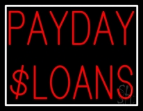 Red Payday Loans LED Neon Sign