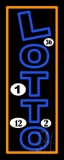 Vertical Double Stroke Lotto LED Neon Sign