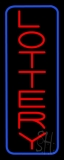 Vertical Red Lottery Blue Border LED Neon Sign