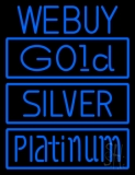 We Buy Gold Silver Platinum LED Neon Sign