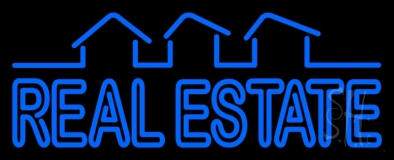 Block Real Estate Neon Sign