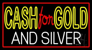 Cash For Gold And Silver LED Neon Sign