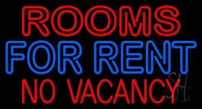 Double Stroke Rooms For Rent LED Neon Sign