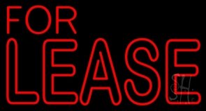 For Lease Neon Sign