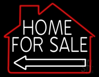 Home For Sale Neon Sign