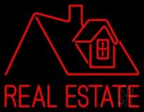 Real Estate Home Logo LED Neon Sign