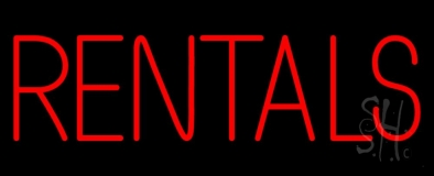 Red Rentals LED Neon Sign