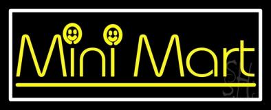 Yellow Mini Mart LED Neon Sign